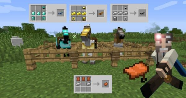 Craftable Horse Armour and Saddle для Майнкрафт 1.12.2