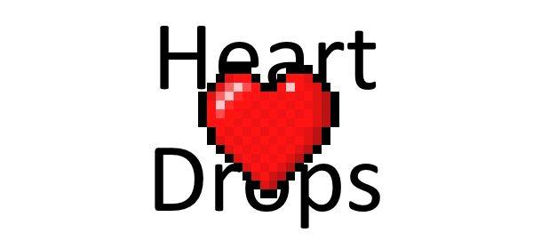 Heart Drops для Майнкрафт 1.12.2