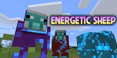 Energetic Sheep для Майнкрафт 1.12.2