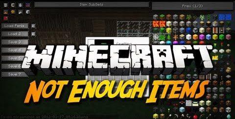 Not Enough Items (NEI) для Майнкрафт 1.12.2