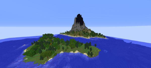 Volcano Survival Island для Майнкрафт 1.12.2
