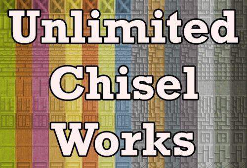 Unlimited Chisel Works для Майнкрафт 1.12.2