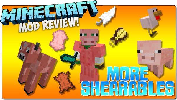 More Shearables для Майнкрафт 1.12.2