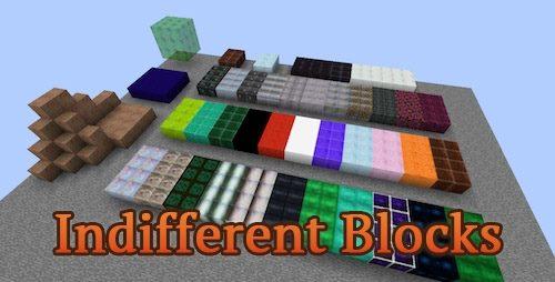 Indifferent Blocks для Майнкрафт 1.10.2