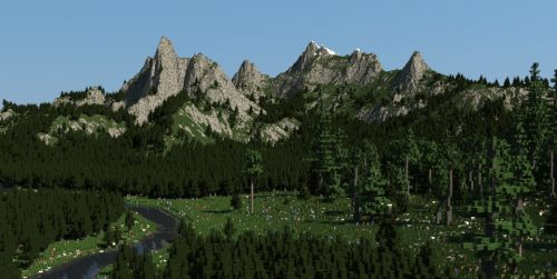 Beautiful Mountains для Майнкрафт 1.12.2