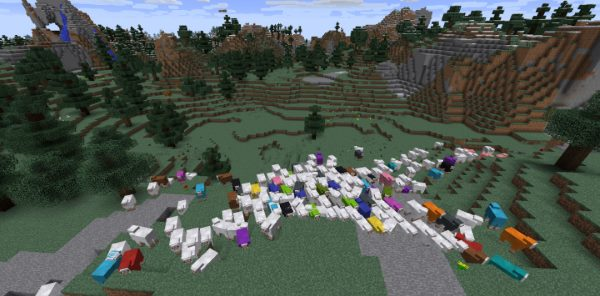 Colorful Sheep для Майнкрафт 1.12.2