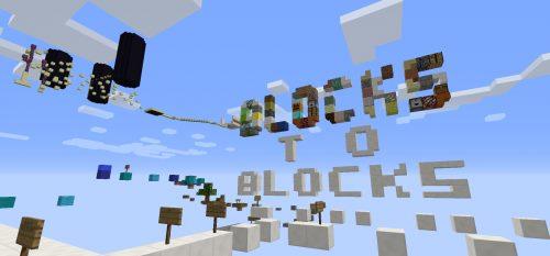 Blocks To Blocks для Майнкрафт 1.12.2