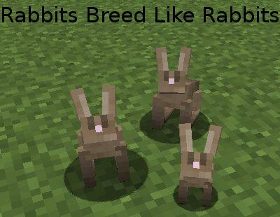 Rabbits Breed Like Rabbits для Майнкрафт 1.12.2